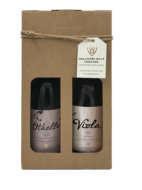 Othello & Viola English Red & White Wine Gift Pack