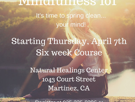 New Mindfulness 101 Course Starting!