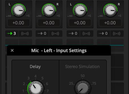 Adjustable audio delay for ATEM Mini models