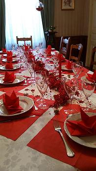 Blog événementiel Bordeaux | table rouge dorée