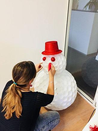 diy, bonhomme de neige, tuto, montage, gobelet, décoration, bientôt finis