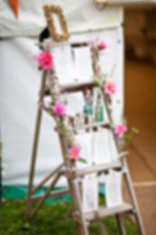 échelle, bois, décoration, menus, evenement