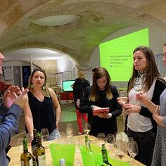 dégustation de vins, animation, activité, rencontre, ancien eleve, professeurs