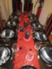 Blog événementiel Bordeaux |  Table rouge noire