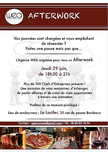 Blog événementiel Bordeaux | Invitation à l'Afterwork de l'Agence WEA - Lucifer bar Bordeaux