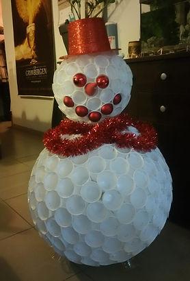 bonhomme de neige, gobelet, décoration, noël