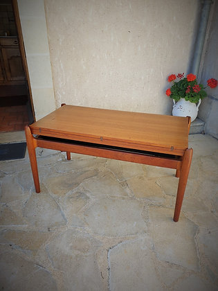 Table basse scandinave Smorrebrod modulabe années 60