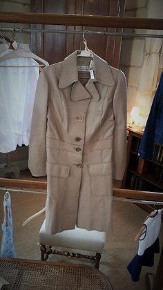 Veste cuir beige années 70 très bon état