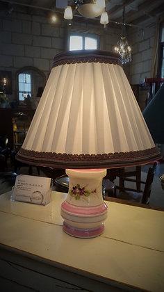 Lampe porcelaine abat jour signé Ida Bellini