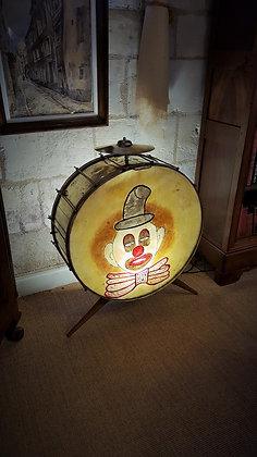 Lampe tambour de forain début XXème