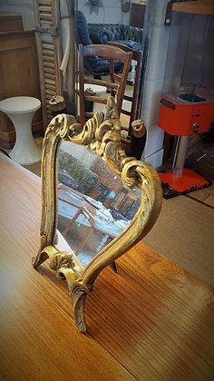 Petit miroir sur pied vintage