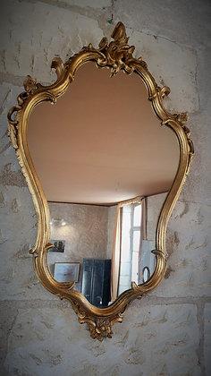 Grand miroir style rocaille vintage