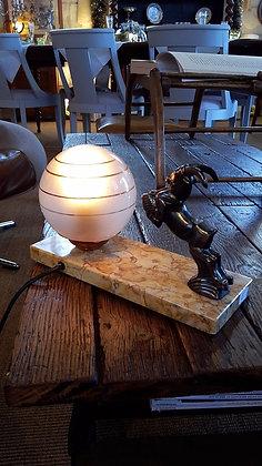 Lampe sur socle marbre Art déco