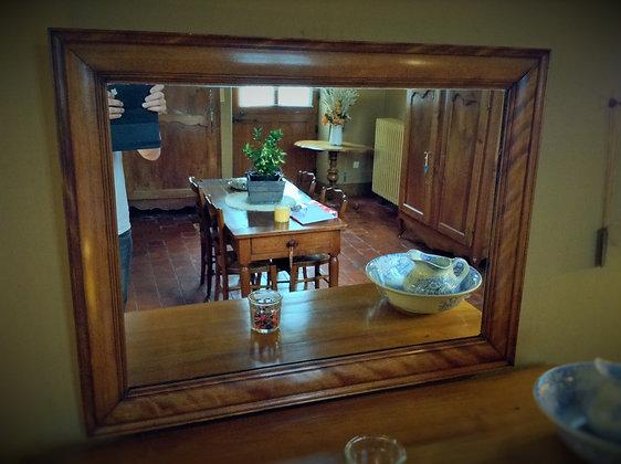 Miroir en acajou XIXème