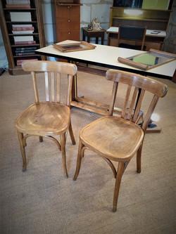 paire de chaises de bistrot ancienne
