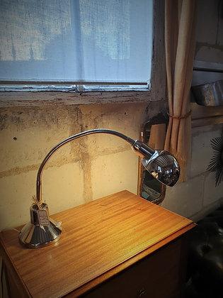 Lampe de bureau en métal chromé années 70