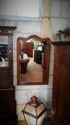 Miroir contours bois XXème