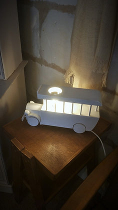 Lampe de chevet vintage en forme de bus anglais