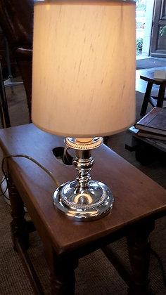 Lampe en métal chromé XXème