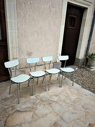 4 chaises en formica Tublac vintage