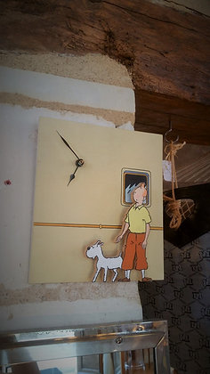 Horloge tintin et milou vintage