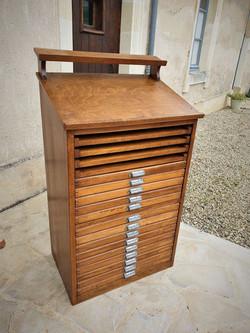 meuble d'imprimerie ancien