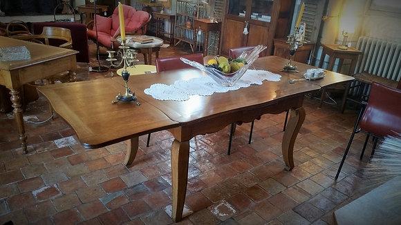 Table rectangulaire à allonges années 50