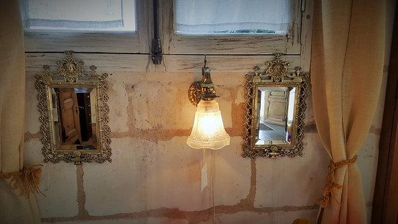 Paire de miroirs en bronze époque XIXème