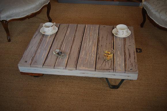 Ancien chariot transformé en table basse début XXè