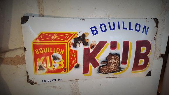 Plaque émaillée bombée KUB des années 30