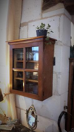 Petite vitrine en merisier XIXème