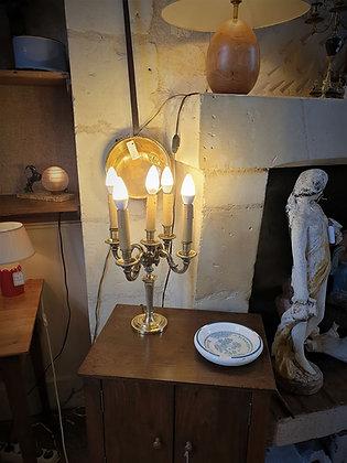 Lampe bougeoir en bronze XIXème