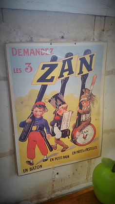 Publicité marque Zan années 60
