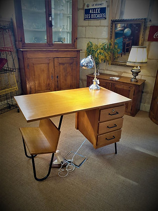 Bureau vintage de Jacques HITIER années 50