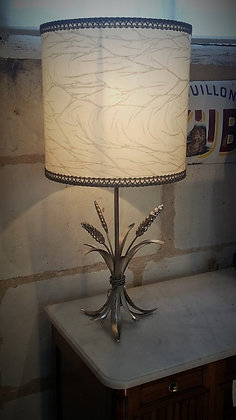 lampe épis de blé en métal années 70