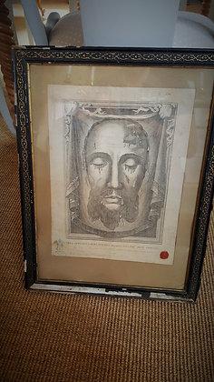 Gravure sur tissu du Christ de 1882