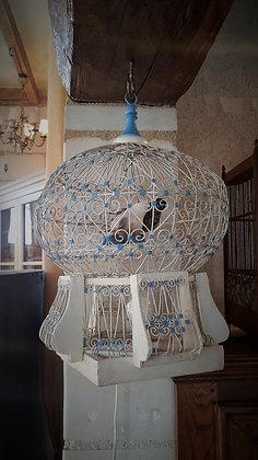 Cage à oiseaux vintage lumineuse