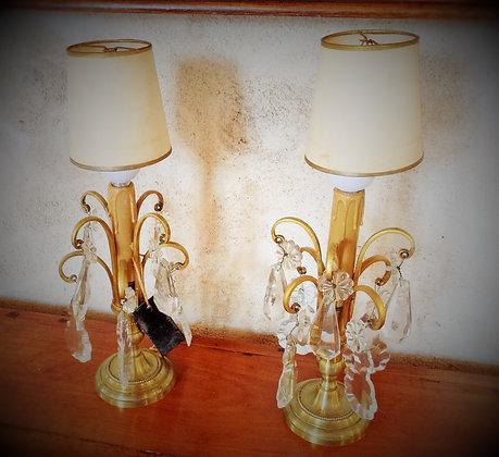 Paire de lampes Girandoles datant 1900