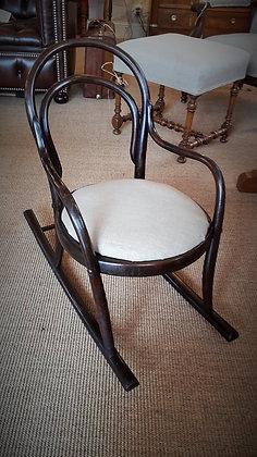 Rocking chair enfant Thonet XXème