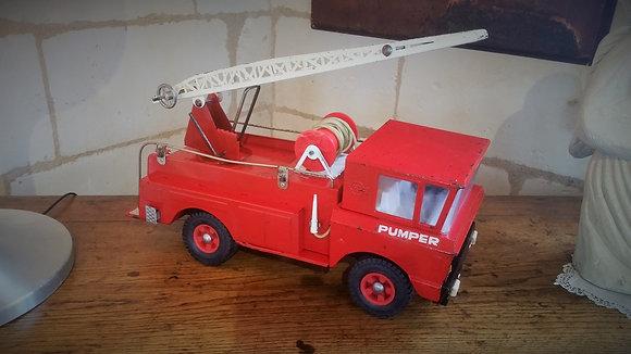 Camion de pompier en métal marque Rico années 50