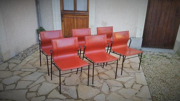 Série de 2 chaises Matteo Grassi années 80