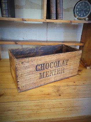 Boite en bois Chocolat Menier années 30/40