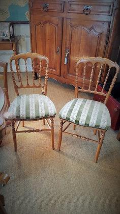 Paire de chaise Napoléon III fin XIXème
