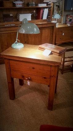 Petite table d'appoint billot rustique ancien