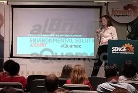 A especialista de processos da aQuamec, Sonia Mucciolo, apresentou destaques da ultrafiltração e da microfiltração