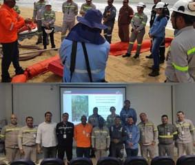 aLBriggs realiza treinamentos de oil spill response em terminal portuário