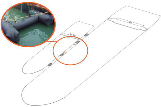 Barreira de contenção vikoseal Desenho técnico