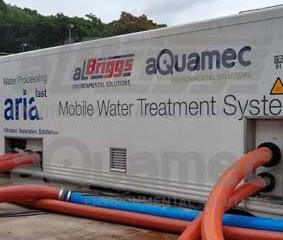 Sistema móvel de tratamento de água abastece carnaval litorâneo