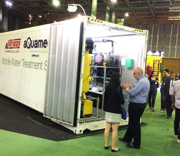 O sistema móvel para tratamento de água Pall AriaTM  é ideal para produção de água potável e reúso