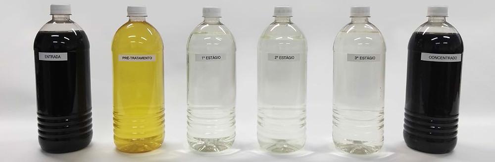 É possível obter, separadamente, água tratada e o concentrado de chorume